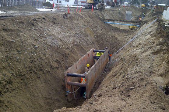 District of- Barriere LNB Construction Barriere  District of Barriere – Sanitary Sewer Project District of Barriere LNB Construction Barriere 555x370