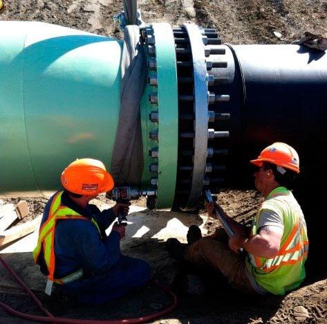 Construction LNB Domtar Treated Effluent Line 4