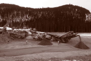 Civil Construction & Earthworks Projects LNB Forest Kerr Crushing DuoTone 360x240