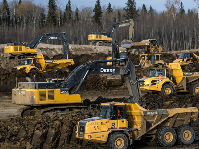 A fleet of GPS enabled earthworks machines bring cost and time savings to your site development site development Site Development LNB Site Development 2 DuoTone on